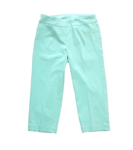 Slimsations by Multiples Capri Pant - Tiffany Blue