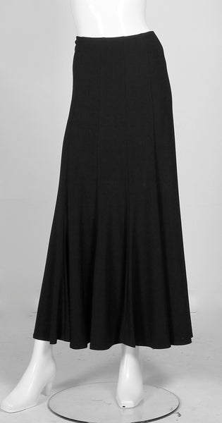 Frank Lyman Long Flared Hem Skirt - Black