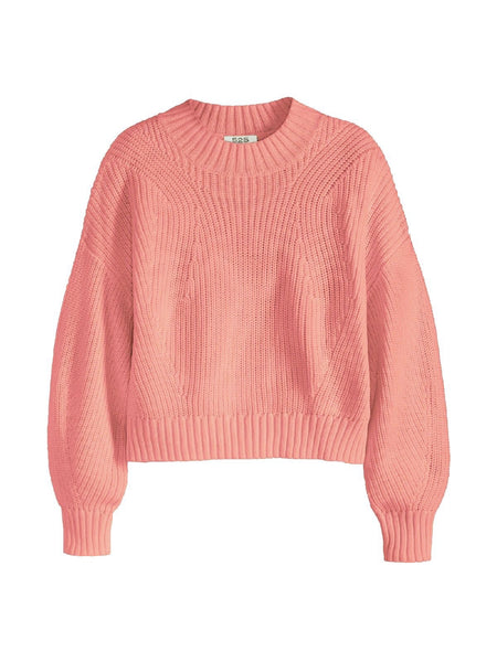 525 America Mia Cotton Cropped Sweater - Pink Sand