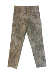 Sharon Young FitFabulous Leopard Print Crop Pant - Multicolor