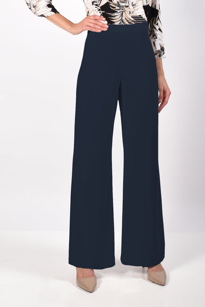 Frank Lyman Wide Leg Pull On Pant - Midnight