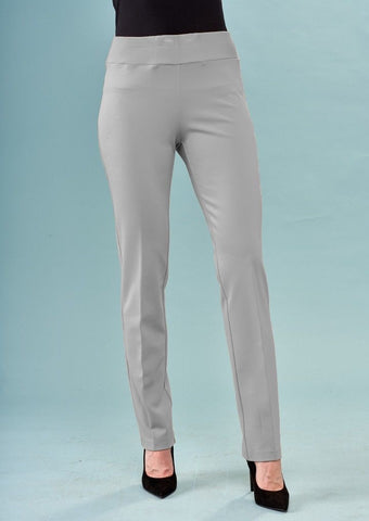 Insight New York Silky Knit Straight Leg Pant - Silver Grey