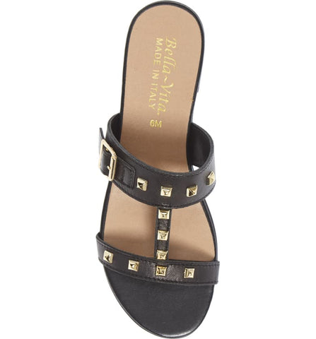 Bella-Vita Italy Jun Slide Sandal - Black