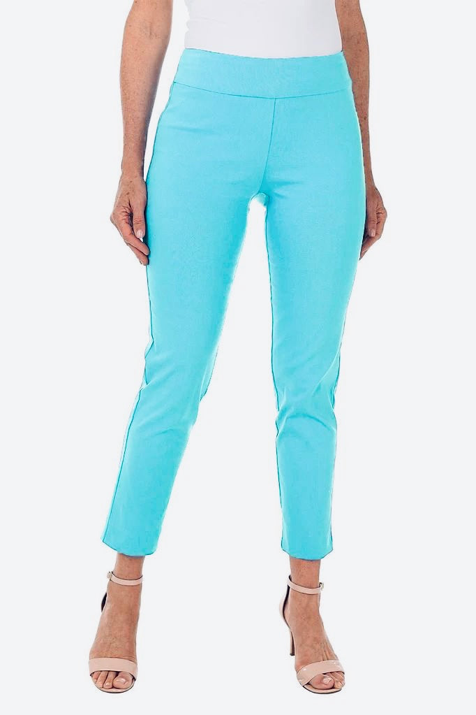 Krazy Larry Pull On Ankle Pant - Aqua