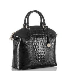Brahmin Large Duxbury Satchel - Black Melbourne