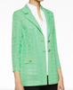 Image of Ming Wang Two-Button Textured Knit Jacket - Springview Green
