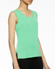 Image of Ming Wang Mid-Length Scoop Neck Knit Tank - Springview Green