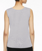 Image of Ming Wang Mid-Length Scoop Neck Knit Tank - Sterling Grey