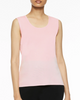 Image of Ming Wang Mid-Length Scoop Neck Knit Tank - Ballet Pink