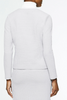 Image of Ming Wang Two-Tone Subtle Check Knit Jacket - Sterling Grey/White
