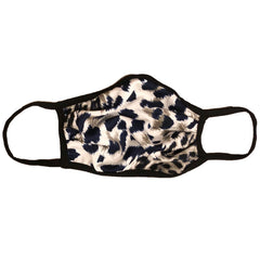 Cloth Fashion Mask Cheetah Print - Navy/Cream