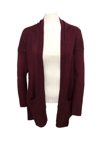 Metric Knits Cardigan with Pockets - Port
