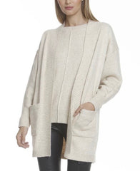 Metric Knits Speckled Yarn Cardigan - Beige/Multicolor