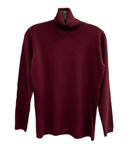 Metric Knits Turtleneck Sweater - Portwine
