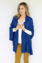Pure Cashmere Wrap - Blue