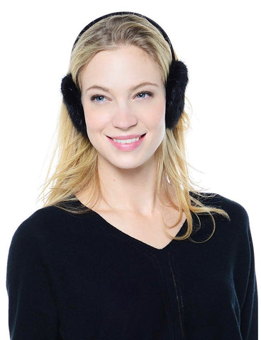 Mink Fur Earmuffs - Brown