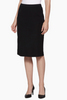 Image of Ming Wang Below the Knee Straight Knit Skirt - Black