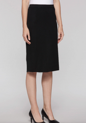 Ming Wang Below the Knee Straight Knit Skirt - Black