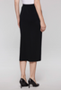 Image of Ming Wang Plus Size Straight Knit Midi Skirt - Black