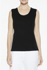 Image of Ming Wang Plus Size Long Scoop Neck Knit Tank - Black