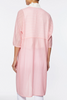 Image of Ming Wang Sheer Diagonal Stripe Knit Duster - Pink Rose