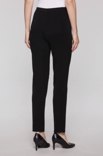 Ming Wang Plus Size Straight Leg Knit Pant - Black