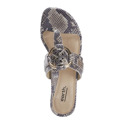 Earth Shoes Mykonos Tinos Sandal - Indigo Python Print