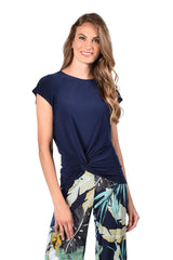 Frank Lyman Twist Front Top - Navy