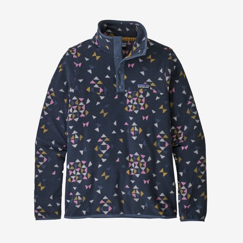 Patagonia Women's Micro D Snap-T Fleece Pullover - Quilty Big Print: New Navy