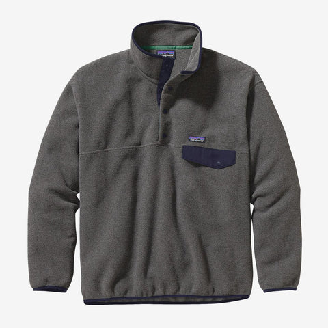 Patagonia Men's Synchilla Snap-T Fleece Pullover - Nickel/Navy