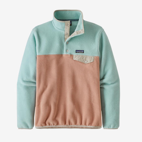 Patagonia Women's Lightweight Synchilla Snap-T Pullover - Scotch Pink