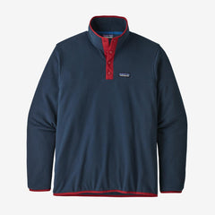 Patagonia Men's Micro D Snap-T Pullover - Navy/Red