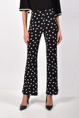 Frank Lyman Design Polka Dot Palazzo Pants - Black/White