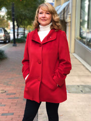 Rippe's Cashmere Blend Stroller Coat - Red - Sugg. $800.00