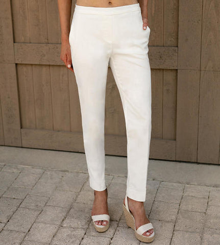 Sharon Young FitFabulous Classic Ankle Pant - White