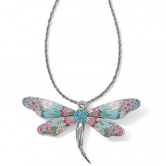 Brighton Dragonfly Necklace - Silver/Multi