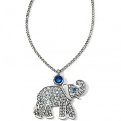 Brighton Elephant Necklace - Silver/Blue