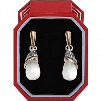 Brighton Neptune's Rings Teardrop Earrings Gift Box- Clear