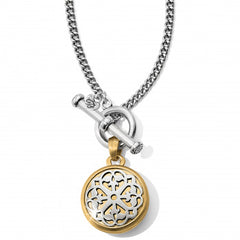 Brighton Two Tone Locket Necklace - Silver/Gold