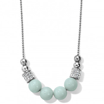 Brighton Meridian Petite Necklace - Silver/Light Blue