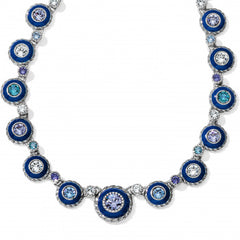 Brighton Halo Eclipse Necklace - Silver/Blue