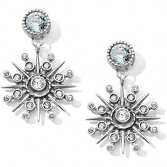 Brighton Halo Ice Post Drop Earrings- Silver