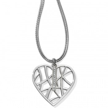 Meridian Convertible Heart Necklace - Silver