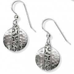 Brighton Mingle Disc French Wire Earrings - Silver