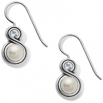 Brighton Infinity Pearl French Wire Earrings - Silver/Pearl