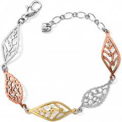 Brighton Barbados Leaves Mix Metal Bracelet - Silver/Gold