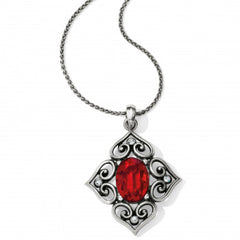 Brighton Alcazar Convertible Necklace- Red/Silver