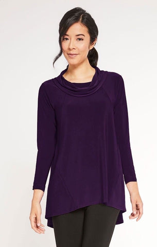 Sympli The Look Tunic 3/4 Sleeve - Blackberry