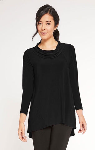Sympli The Look Tunic 3/4 Sleeve - Black