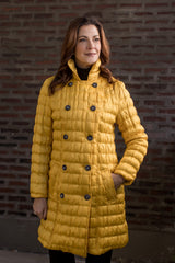 UbU Double Breasted Quilted Trench Coat - Marigold - Sugg. $270.00